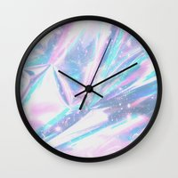 hologram Wall Clocks featuring Iridescence by Leah Moloney Photo