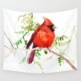 Cardinal Bird Wall Tapestry