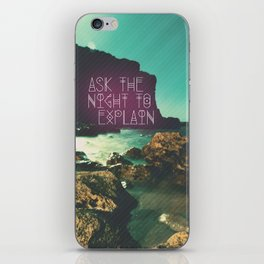 Ask the Night to Explain iPhone Skin