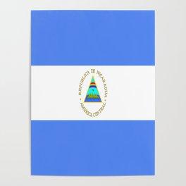 flag of nicaragua - Nicaraguans,Nicaragüense,Managua,Matagalpa,latine. Poster