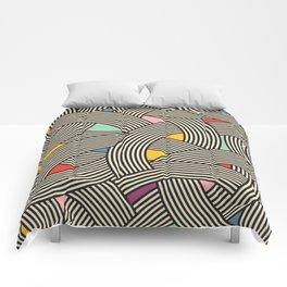 Modern Scandinavian Multi Colour Color Curve Graphic Comforters