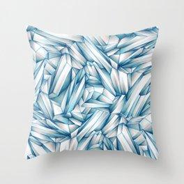 Blush Crystals Throw Pillow