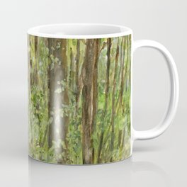 Wooded Path Watercolor Landscape Detailed Realism Coffee Mug