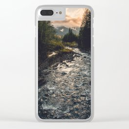 The Sandy River II Clear iPhone Case
