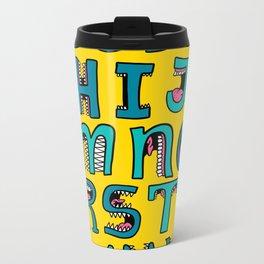 Loud Mouth Alphabet Metal Travel Mug
