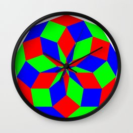 Nonagon RGB Puzzle Wall Clock