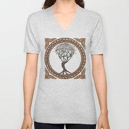 Celtic Tree of Life II Unisex V-Neck