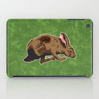 hare iPad Cases featuring Hare by Skekfaer
