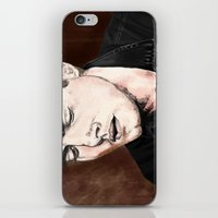 dean winchester iPhone & iPod Skins featuring Dean Winchester by Brandi