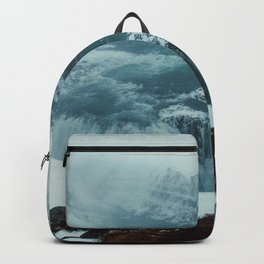 Gullfoss Waterfall in fog Backpack