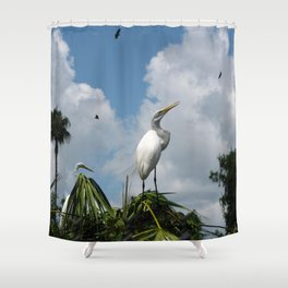 Dino Bird Shower Curtain
