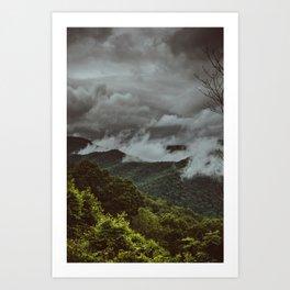Moody Mountains Art Print