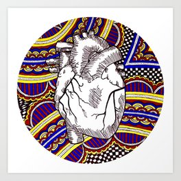 Oh The Heart Art Print