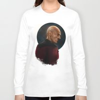 picard Long Sleeve T-shirts featuring Picard by ErstwhileSky