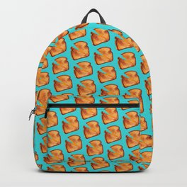 Grilled Cheese Sandwich Pattern - Blue Backpack