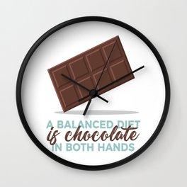 Balanced Diet Chocolate Lover Sweet Love Wall Clock