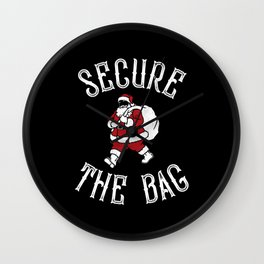 Secure The Bag Christmas Santa Wall Clock