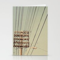 the wire Stationery Cards featuring wire by erinreidphoto