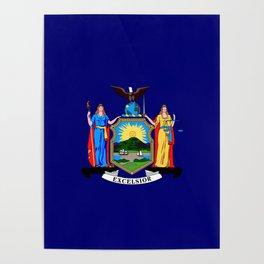 New York State Flag Poster