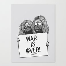 War is over Pugs Canvas Print