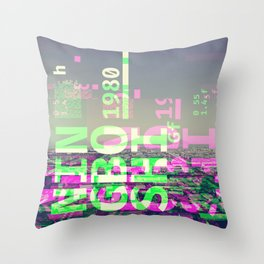 GLITCH CITY #25: Ningbo Shi Throw Pillow