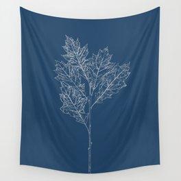 English Oak Blueprint Wall Tapestry