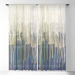 Irish Emerald Gold Sheer Curtain