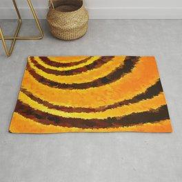 Pop Art Tiger Stripe Animal Print Rug
