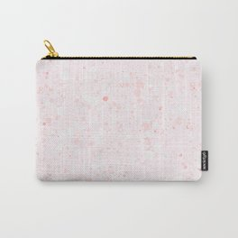 Soft Pink Bubbles Marble Carry-All Pouch