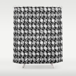 Royals on Black Shower Curtain