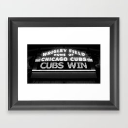 Cubs Win Framed Art Print