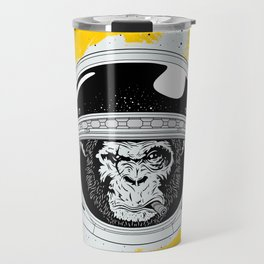 Monkey in white space Travel Mug