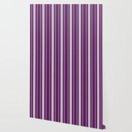 Purple Victorian Lady Stripe Wallpaper