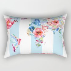 Floral World Stripe Rectangular Pillow