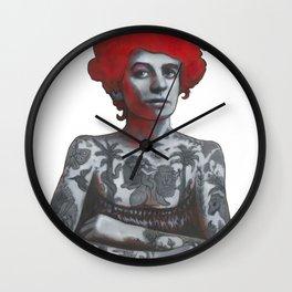 The tattooed girl Wall Clock