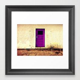 Purple Door Framed Art Print