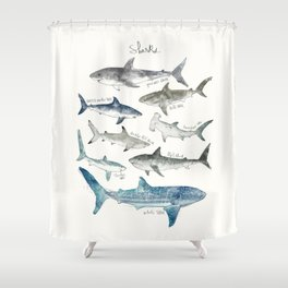 Sharks Duschvorhang