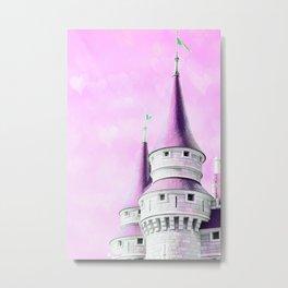 Pink Castle Tower Metal Print
