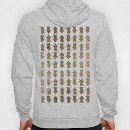 Chic modern faux gold white bohemian arrows pattern Hoody