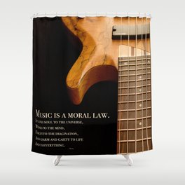 Music is a Moral Law Shower Curtain