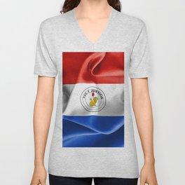 Paraguay Flag Reverse Side Unisex V-Neck