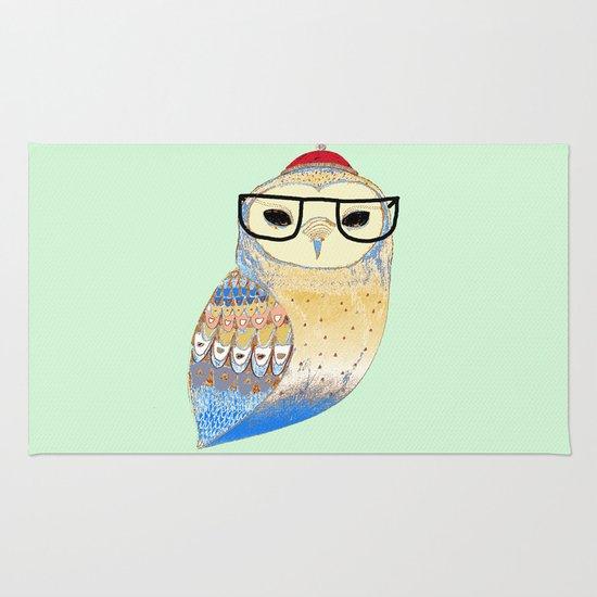 hipster owl Rug