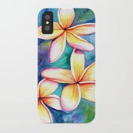 Blooming Plumeria 5 iPhone Case