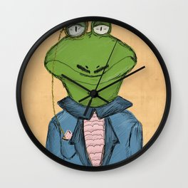 Sophisticated Frog Print Wall Clock