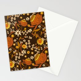 Australian Natives Wattle Gold Stationery Cards