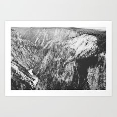 Canyon Black and White Art Print