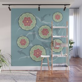 Koi Lotus Pond Wall Mural