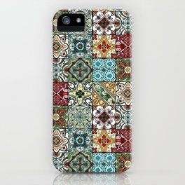 Colorful Spanish Tiles iPhone Case
