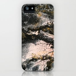 Abstract artwork black pink gold iPhone Case