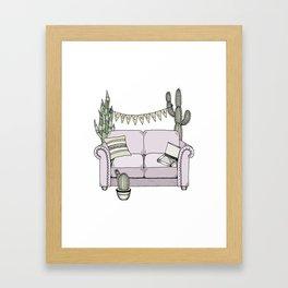 Couchella Framed Art Print